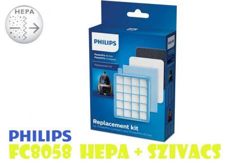 Philips FC8058 szűrő szett / HEPA + SZIVACS szűrő - PowerPro sorozat